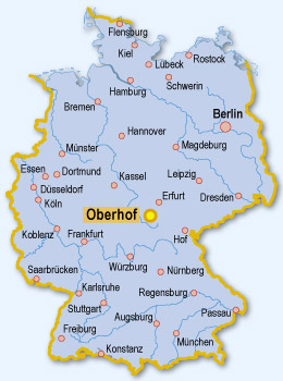 oberhof karte Oberhof Landkarte   Deutschland Karte oberhof karte